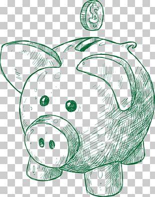 Piggy Bank Saving Finance Money Drawing PNG