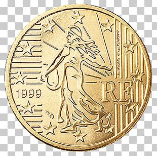 France Euro Coins 1 Cent Euro Coin Penny PNG