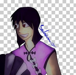 Black Hair Mangaka Purple Brown Hair Anime PNG
