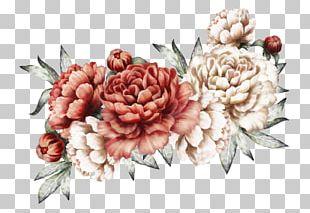 Fan Fiction Floral Design Watercolor Painting PNG