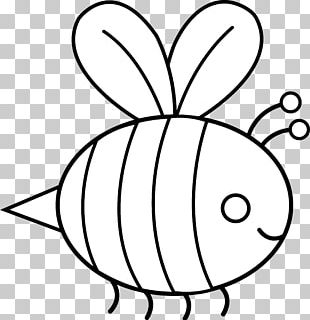 Bumblebee Black And White PNG