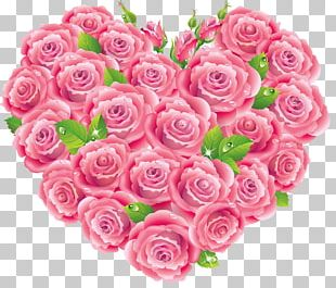Rose Pink Heart PNG