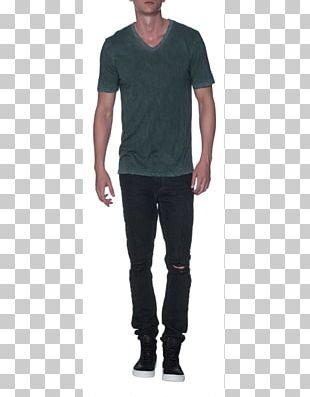 Jeans Long-sleeved T-shirt Long-sleeved T-shirt Shoulder PNG