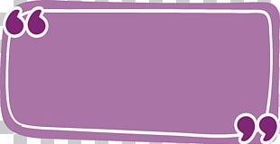 Rectangle Quotation Purple PNG