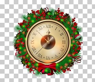 Santa Claus Christmas Clock New Year PNG