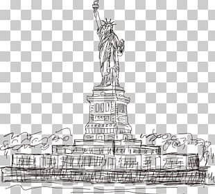 Statue Of Liberty Eiffel Tower Landmark PNG