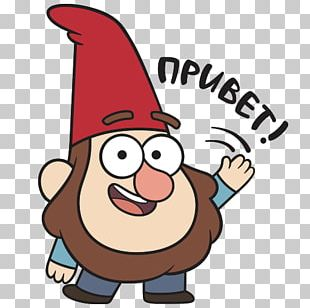 Dwarf Sticker Gnome Telegram VKontakte PNG