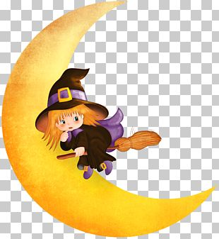Halloween Witch Moon PNG