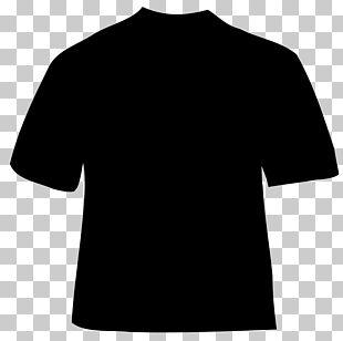 T-shirt Black And White Shoulder PNG