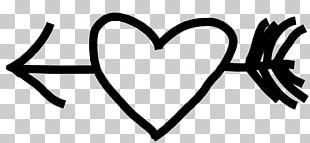 Heart Drawing Black And White PNG