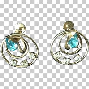 Turquoise Earring Body Jewellery Silver PNG