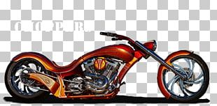 Chopper Suspension Custom Motorcycle Harley-Davidson PNG