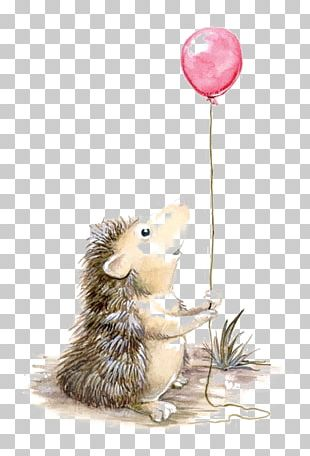 Hedgehog Seventh Bride Drawing Watercolor Painting Illustration PNG