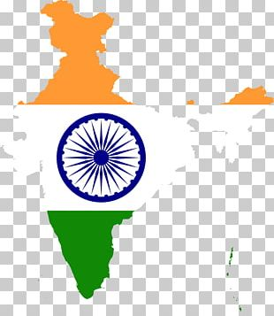 Flag Of India Map PNG