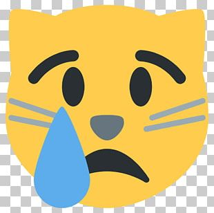 Cat Kitten Face With Tears Of Joy Emoji Crying PNG