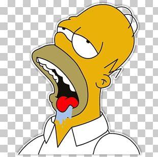 Homer Simpson Internet Meme Drooling PNG