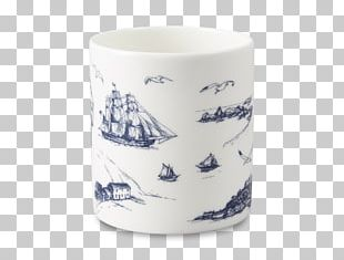 Mug Blue And White Pottery Ceramic Cobalt Blue Porcelain PNG