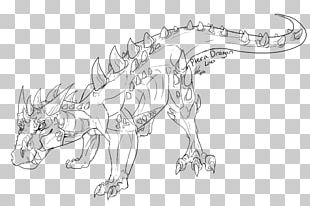 Wildlife Line Art Character White Sketch PNG