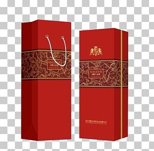 Red Wine Paper Box Packaging And Labeling PNG