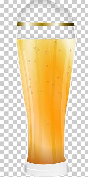 Wheat Beer Milkshake Orange Drink Pint Glass PNG