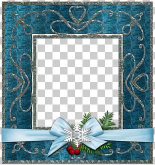 Frames Christmas Blue PNG