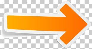 Sticker Orange Arrow PNG
