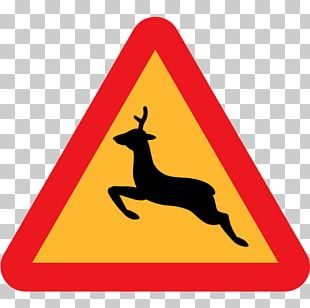 White-tailed Deer Traffic Sign Road PNG
