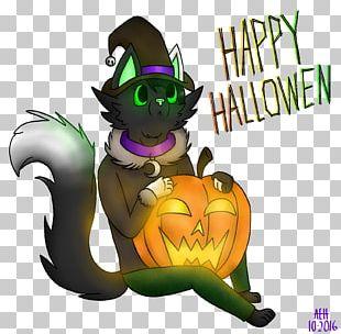 Cat Halloween Cartoon Pumpkin PNG