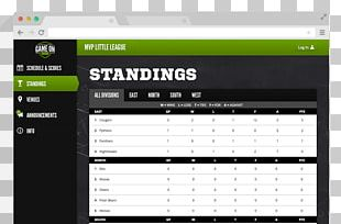 Standings Game Sports League Grow Home Tournament PNG