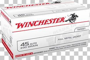 .45 ACP Winchester Repeating Arms Company Automatic Colt Pistol Full Metal Jacket Bullet Firearm PNG
