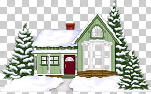 Christmas Card House Home New Year PNG