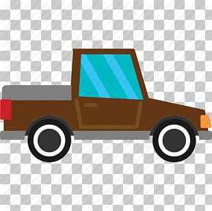 Cartoon Pickup Truck Police Car PNG