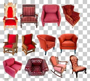 Wing Chair Couch Furniture PNG