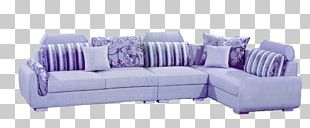 Sofa Bed Purple Couch Table Furniture PNG