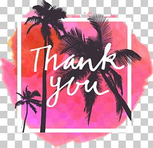 Thank You Pink Watercolor Background PNG