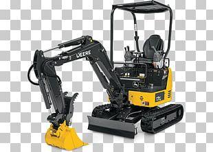 John Deere Compact Excavator Tractor Heavy Machinery PNG