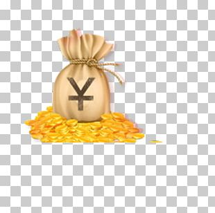 Money Bag Coin Gold PNG