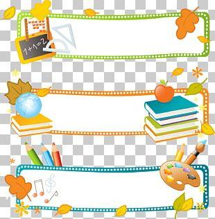 School Banner Education Illustration PNG