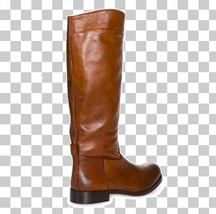 Riding Boot Cowboy Boot Leather Brown PNG