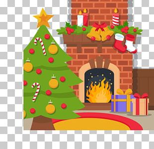 Christmas Tree Euclidean Fireplace PNG