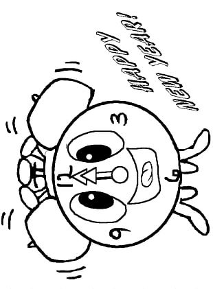 New Year's Eve Coloring Book New Year's Day Chinese New Year PNG