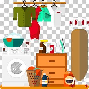 Laundry Room Washing Machine Ironing PNG