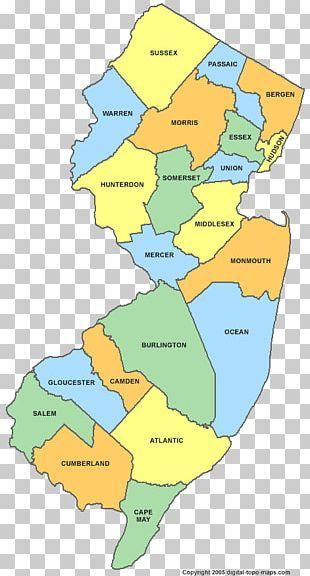 Jersey City Camden Atlantic City Long Beach Township Map PNG
