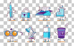 Cartoon Character Supplies Painted PNG