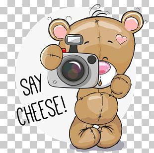 Teddy Bear Cartoon Camera PNG