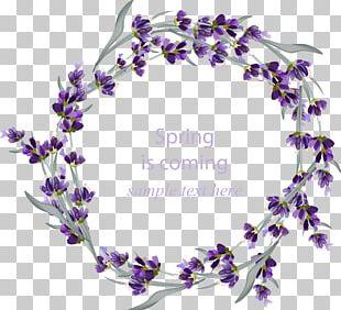 Wedding Invitation Lavender Wreath Flower PNG