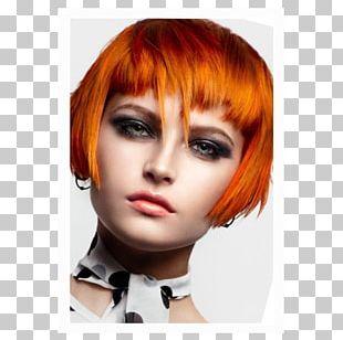 Layered Hair Hair Coloring Bangs PNG