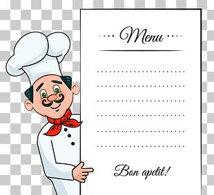 Menu Chef Take-out Template PNG