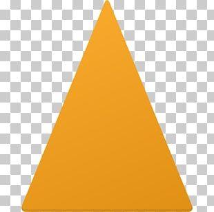 Pyramid Angle Yellow Cone PNG