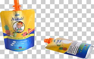 Orange Juice Plastic Bag PNG